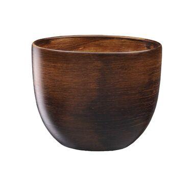 Doniczka ceramiczna 24 cm brązowa BARYŁKA EKO-CERAMIKA