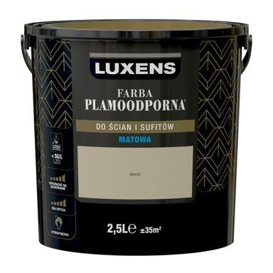 Farba wewnętrzna PLAMOODPORNA 2.5 l Beige LUXENS