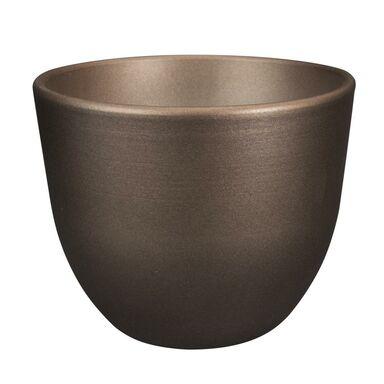 Doniczka ceramiczna 13 cm miedziana BARYŁKA EKO-CERAMIKA