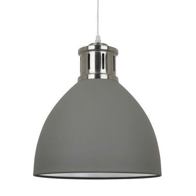 Lampa wisząca LOLA szara z chromem E27 ITALUX