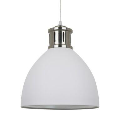 Lampa wisząca Lola biała z chromem E27 Italux