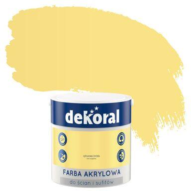 Farba wewnętrzna do ścian i sufitów KOLORY, KTÓRE INSPIRUJĄ 2.5 l Cytrusowa żorżeta DEKORAL