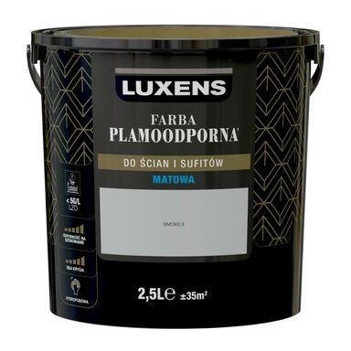 Farba wewnętrzna PLAMOODPORNA 2.5 l Smoke 6 LUXENS