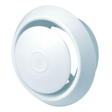 Anemostat plastikowy 125 mm biały EQUATION