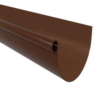 Rynna ryflowana G125 Brązowa 3 m SCALA PLASTICS