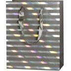 Torebka na prezenty REFLEX STRIPES GREY 10 x 25 cm