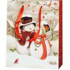 Torebka na prezenty SNOWY FAMILY 10 x 25 cm