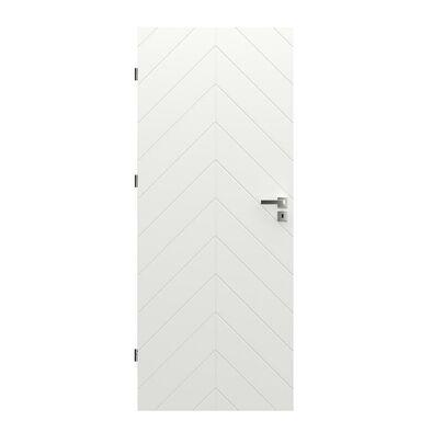 Skrzydło drzwiowe pełne Trim J Białe 80 Lewe Porta