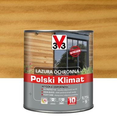 Lazura do drewna Polski klimat 0.75 l Bezbarwny V33