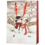 Torebka na prezenty SNOWY FAMILY 12 x 41 cm