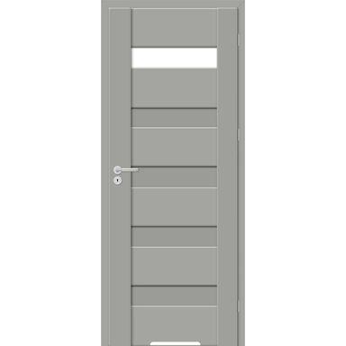 Skrzydło drzwiowe z podcięciem wentylacyjnym PASTO Szary mat 60 Prawe ARTENS