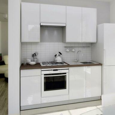 Zestaw mebli kuchennych LAMJA kolor Biały LAYMAN  Meble kuchenne w zestawach   -> Kuchnie Inspiracje Leroy Merlin