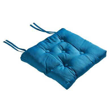 Poduszka na krzesło ELEMA niebieska 40 x 40 x 8 cm INSPIRE