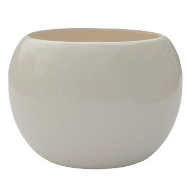 Doniczka ceramiczna 16 cm ecru KULA 4 J1000