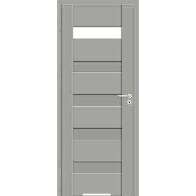 Skrzydło drzwiowe z podcięciem wentylacyjnym Pasto Szary mat 80 Lewe Artens