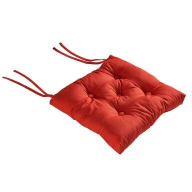 Poduszka na krzesło ELEMA czerwona 40 x 40 x 8 cm INSPIRE
