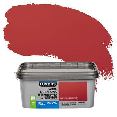 Farba wewnętrzna NARAŻONYCH NA ZABRUDZENIA 2,5 l Pikantna czerwień LUXENS