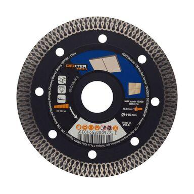 Tarcza diamentowa TURBO DO GRESU 115X1.6X22.2 MM DEXTER PRO
