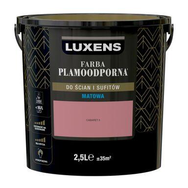 Farba wewnętrzna PLAMOODPORNA 2.5 l Cabaret 5 LUXENS