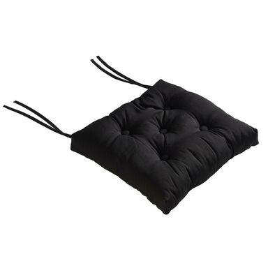 Poduszka na krzesło ELEMA czarna 40 x 40 x 8 cm INSPIRE