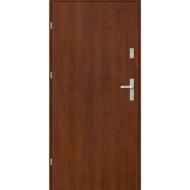 Drzwi zewnętrzne drewniane CASTELLO Orzech 80 Lewe EVOLUTION