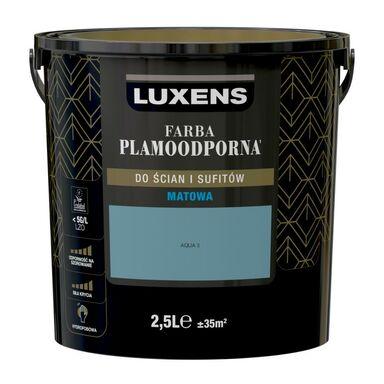 Farba wewnętrzna PLAMOODPORNA 2.5 l Aqua 3 LUXENS