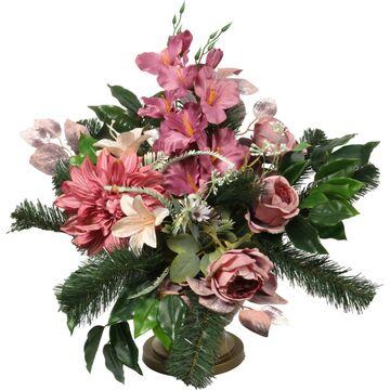 Kompozycja kwiatowa nagrobkowa różowa