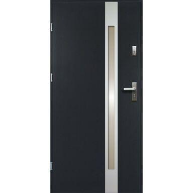 Drzwi zewnętrzne stalowe  TEMIDAS Antracyt 90 Lewe