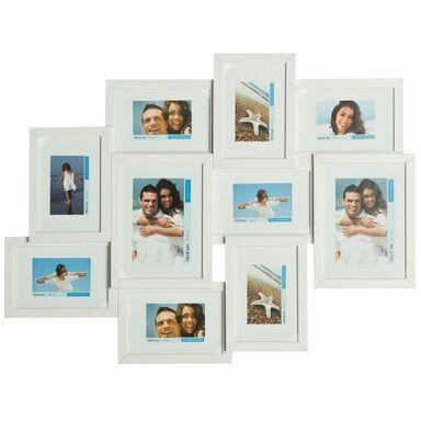 Multiramka na 10 zdjęć 62 x 46 cm biała