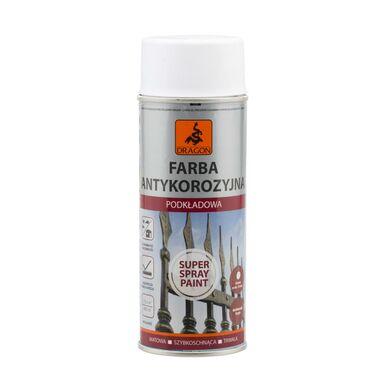 Farba antykorozyjna podkładowa w sprayu SUPER SPRAY PAINT 0.4 l Biała DRAGON