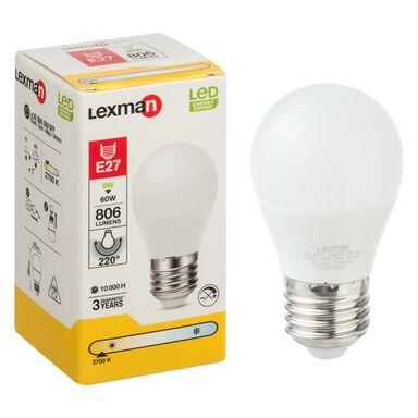 Żarówka LED E27 (230 V) 8 W 806 lm Ciepła biel LEXMAN