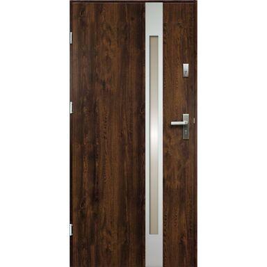 Drzwi wejściowe TEMIDAS Orzech 80 Lewe