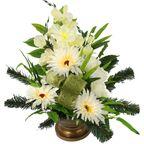 Kompozycja kwiatowa nagrobkowa biała
