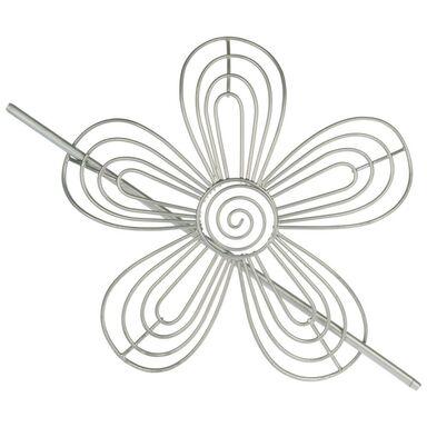 Upinacz do zasłon Stokrotka srebrny 17 x 17 cm Inspire