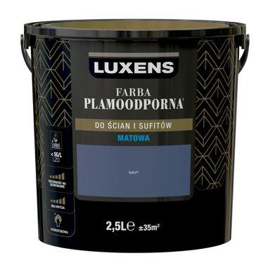 Farba wewnętrzna PLAMOODPORNA 2.5 l Navy LUXENS