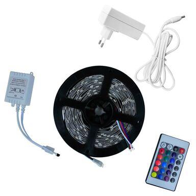 Taśma LED RGB z pilotem i zasilaczen IP20 5 m POLUX