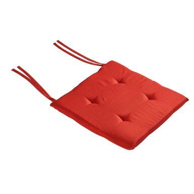 Poduszka na krzesło ELEMA czerwona 40 x 40 x 2 cm INSPIRE