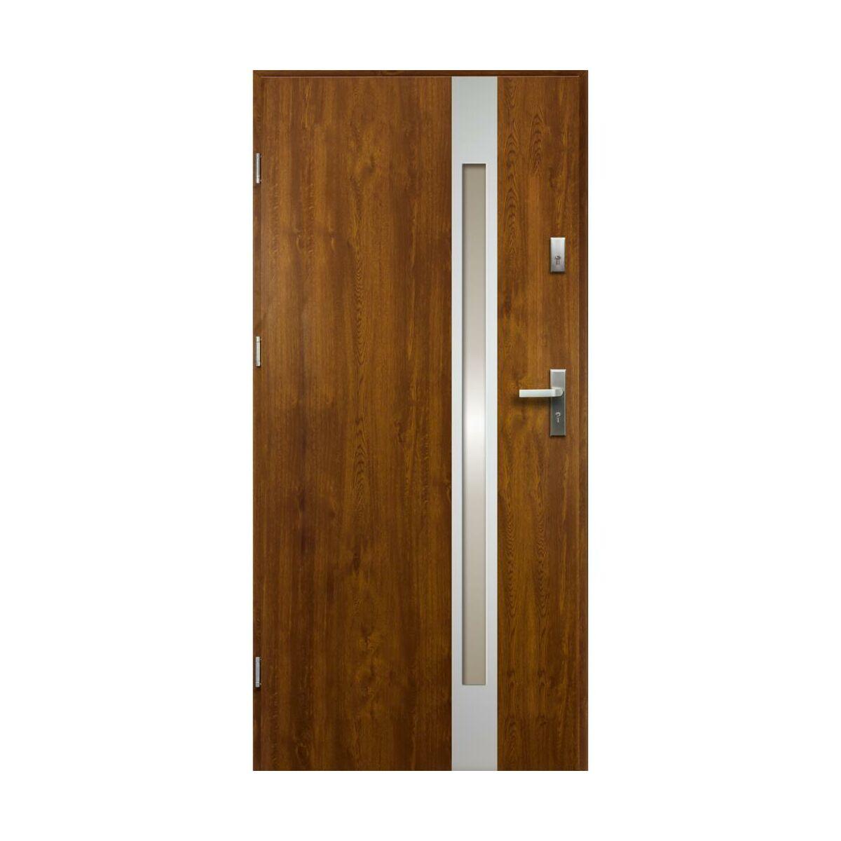 Drzwi Wejsciowe Temidas Zloty Dab 80 Lewe Drzwi Wejsciowe Do Domu Mieszkania W Atrakcyjnej Cenie W Sklepach Leroy Merlin