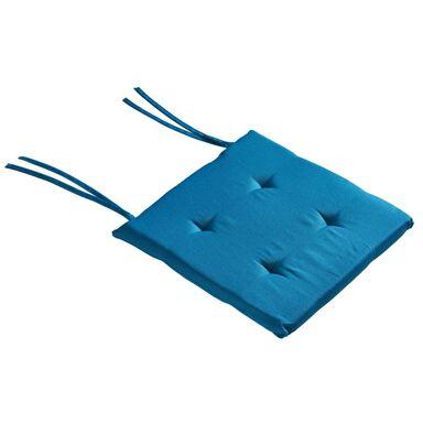 Poduszka na krzesło Elema niebieska 40 x 40 x 2 cm Inspire