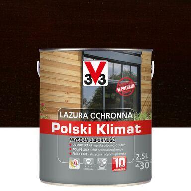 Lazura do drewna Polski klimat 2.5 l Ciemny orzech V33