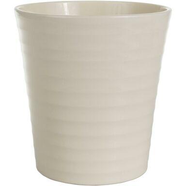 Osłonka do storczyka 13 cm ceramiczna kremowa