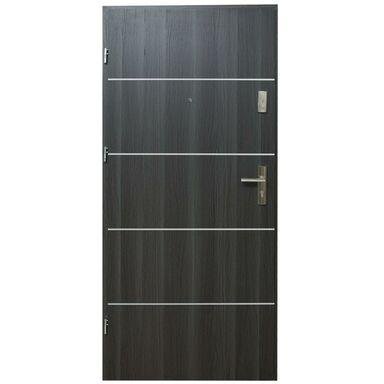 Drzwi wejściowe HEKTOR Dąb grafit 90 Lewe DOMIDOR