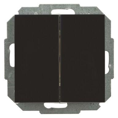 Włącznik schodowy PODWÓJNY SENTIA  Czarny  ELEKTRO - PLAST