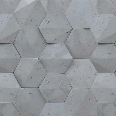 Kamień elewacyjny Playa Hexagon 3D szary 19,5 x 17 cm Steinblau