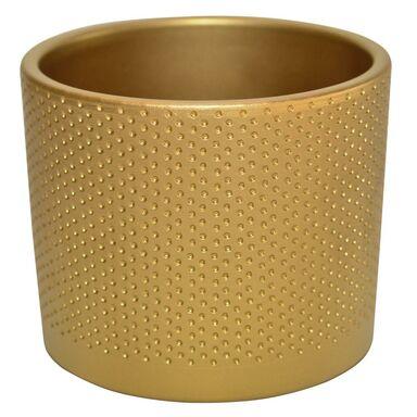 Osłonka ceramiczna 15 cm złota WALEC