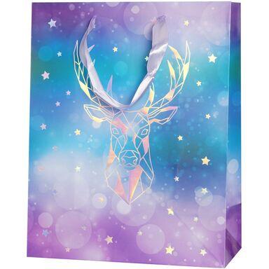 Torebka na prezenty REFLEX GEOMETRIC DEER 13 x 33.5 cm