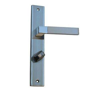 Klamka drzwiowa z długim szyldem do WC HELEN 72 Chrom/Nikiel szczotkowany SCHAFFNER