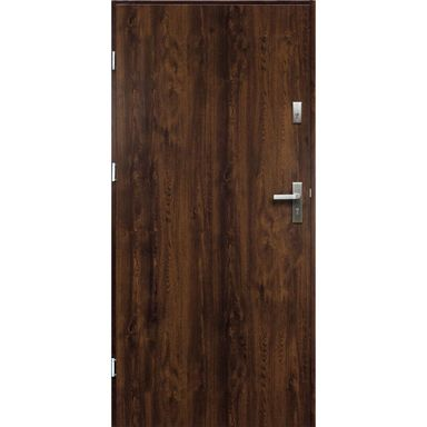 Drzwi zewnętrzne stalowe ARTEMIDA Orzech 80 Lewe