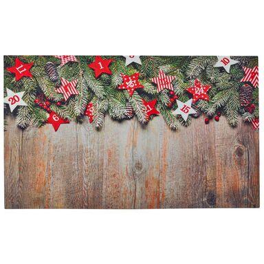 Wycieraczka świąteczna GIRLANDA 75 x 45 cm gumowa