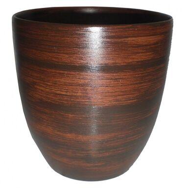 Doniczka ceramiczna 16 cm brązowa NOVA 2/R0723 EKO-CERAMIKA